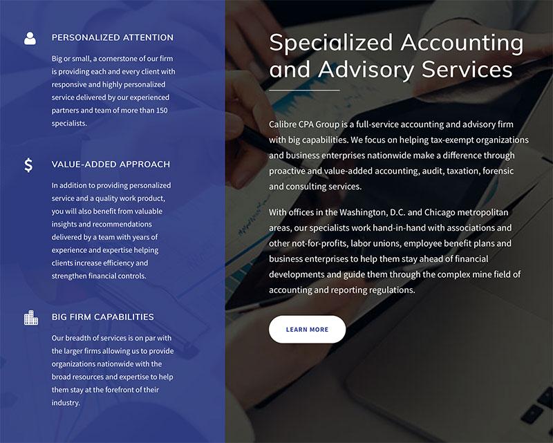 CPA accounting firm website development