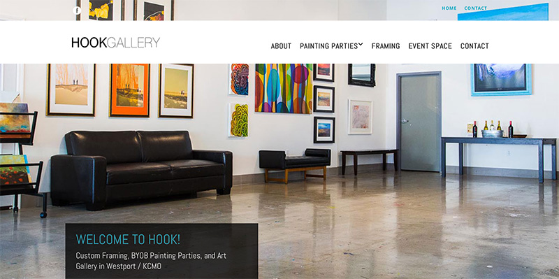 Art gallery frame shop website design