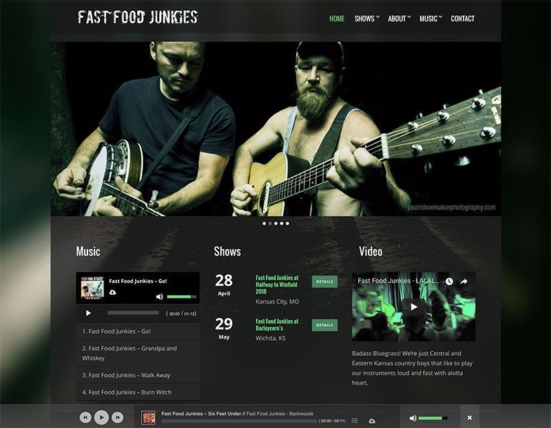 Band website design - Wordpress