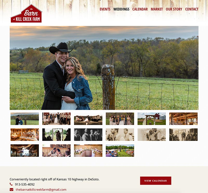 Wordpress Website Design for Historic Barn Event Space
