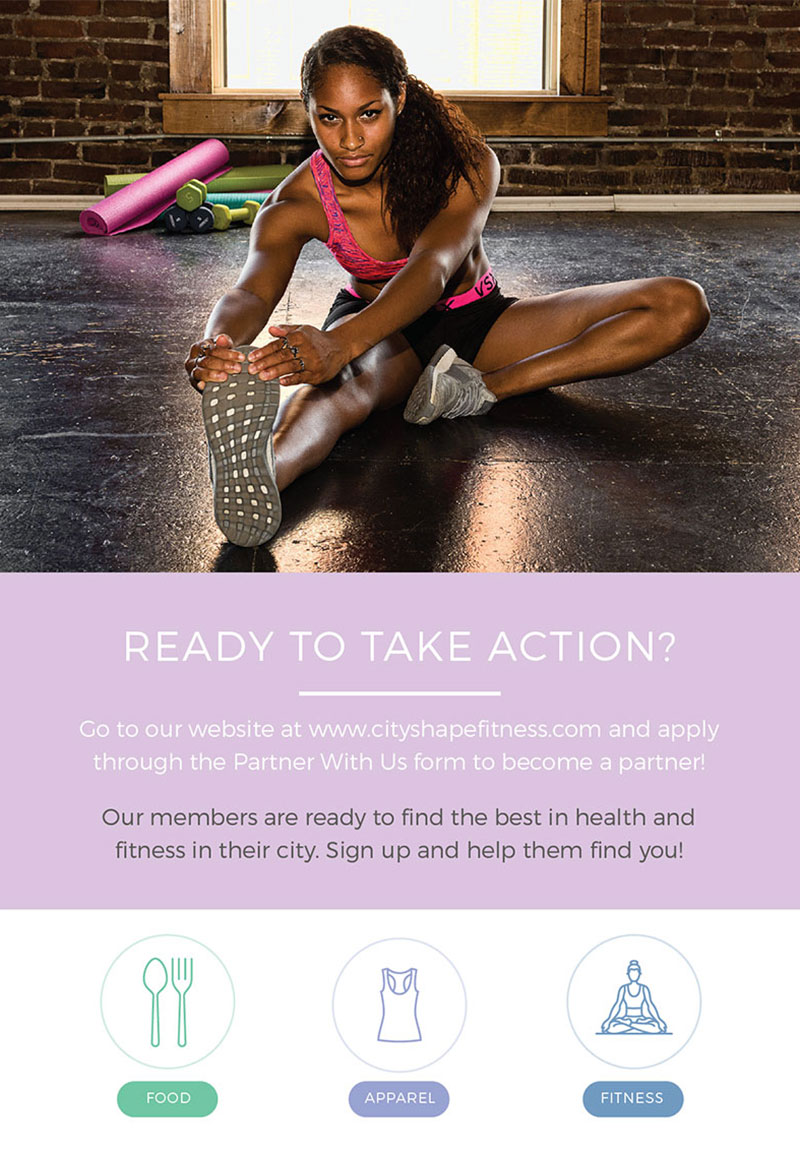 Brochure design for fitness club business