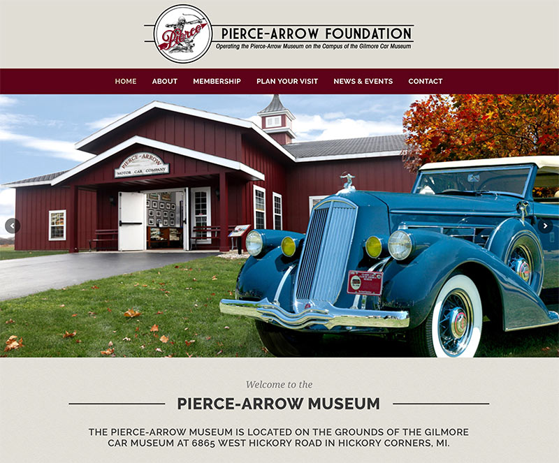 Car Museum Website Design