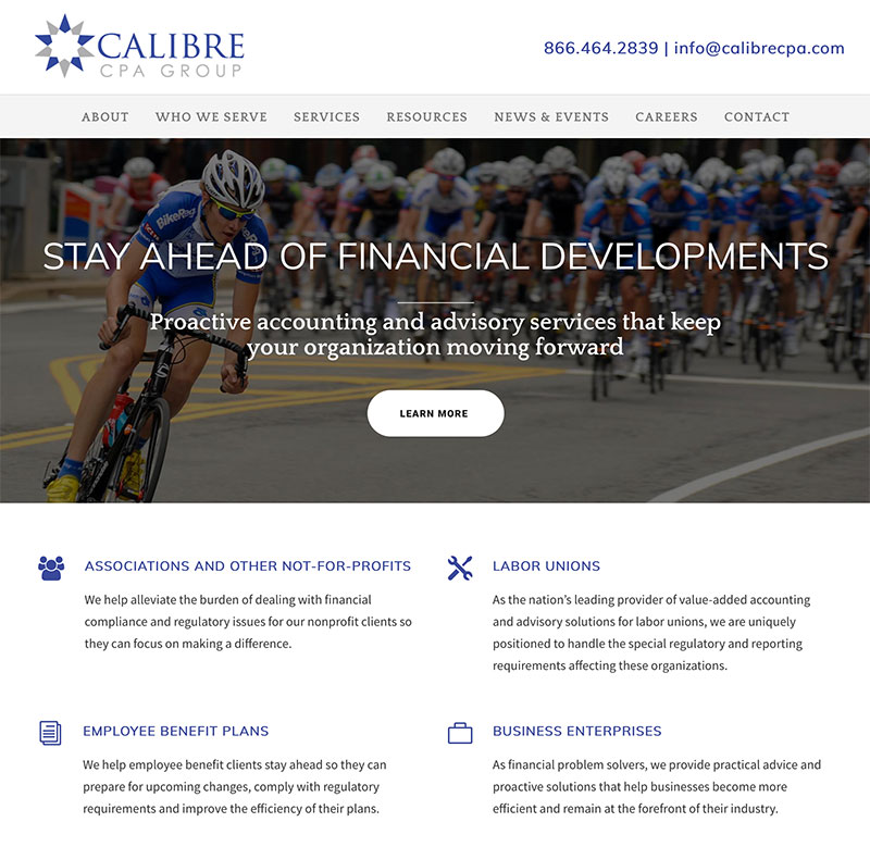 Website design for accountants