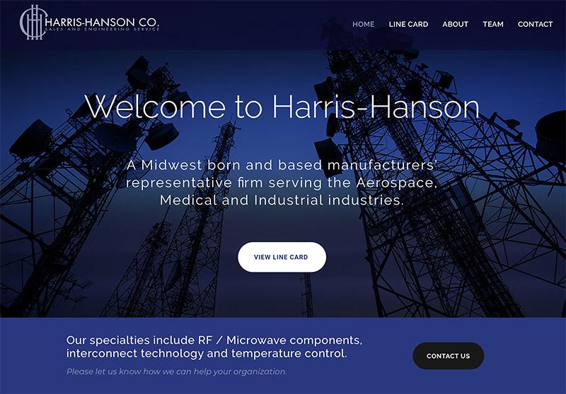 Engineering firm representative website design