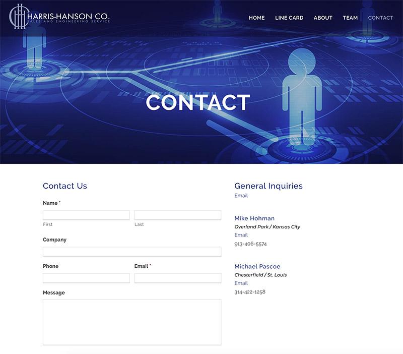 contact form website design