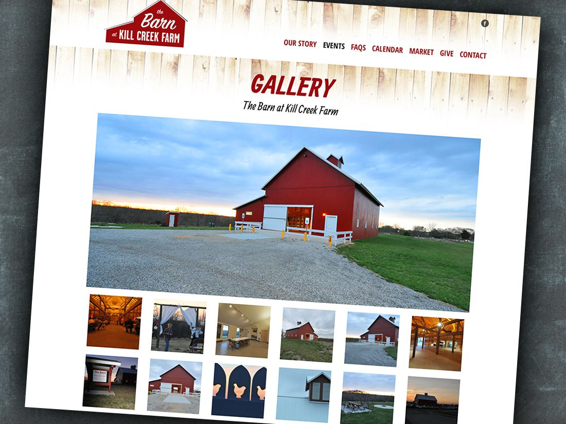 Barn at Kill Creek Farm Wordpress Website Design