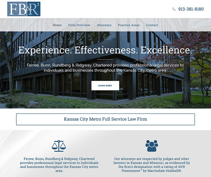 Kansas City Law Firm Website design