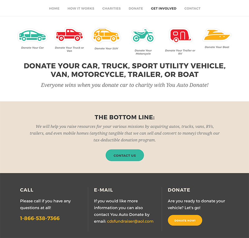 Fundraising website design