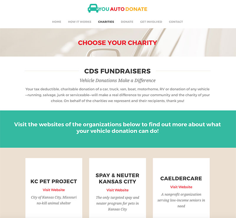 Fundraising website design in Kansas City