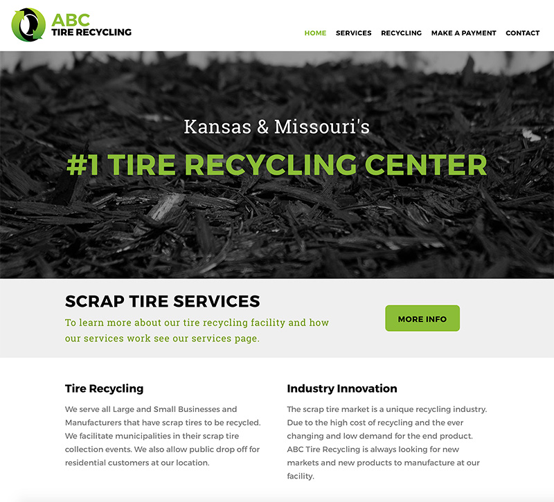 industrial business website design kansas city