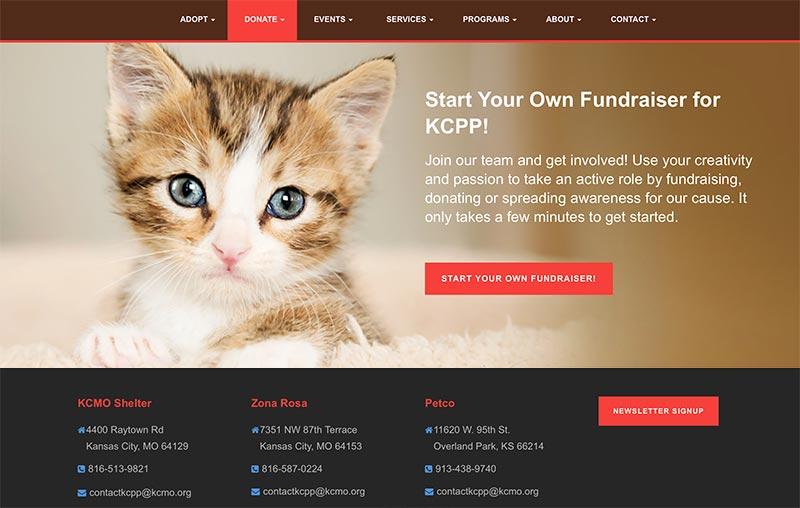 KC Pet Project animal shelter website development