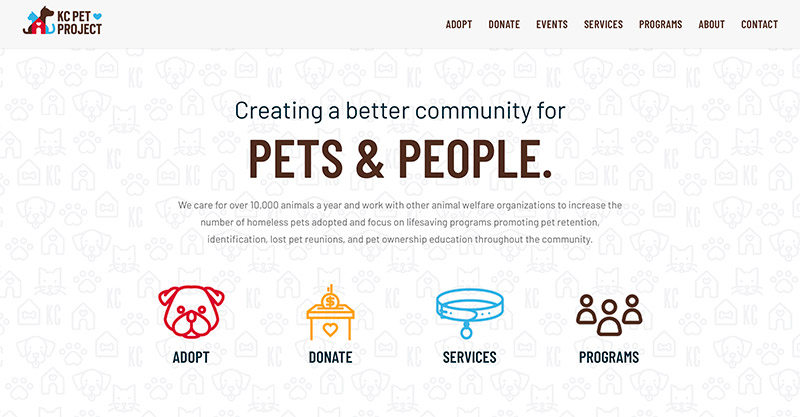 KC pet Project website