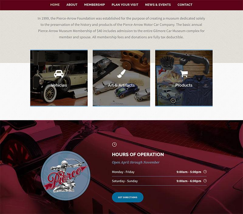 Nonprofit museum web-design