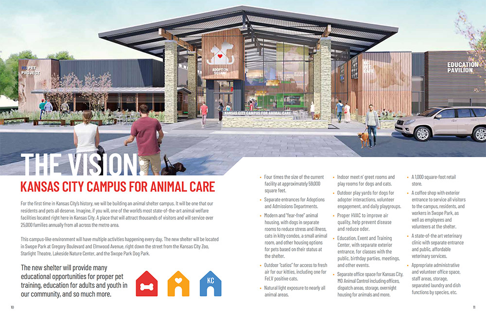 Animal shelter brochure design