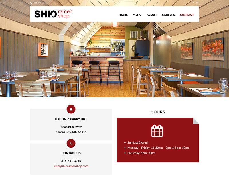 Restaurant web design in Kansas City