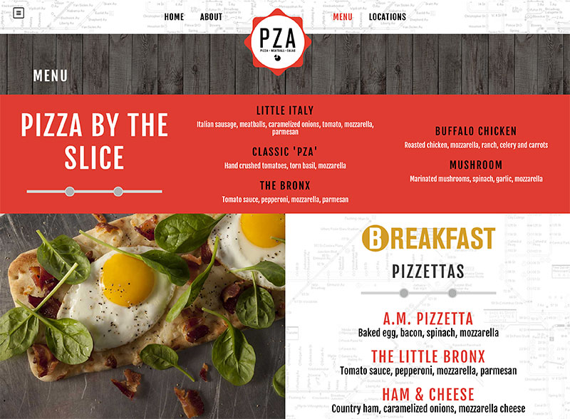 Restaurant web design with Wordpress