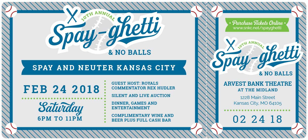 Annual fundraiser invitation design - Kansas City Graphic Design - Spayghetti & No Balls SNKC