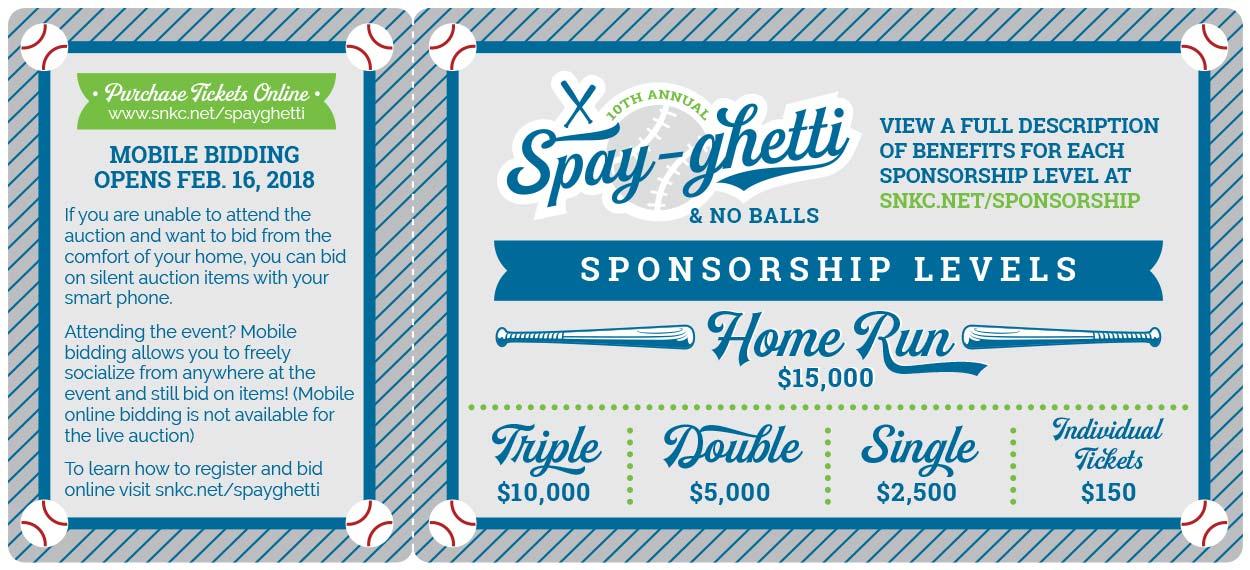 Annual fundraiser invitation design - Kansas City Graphic Design - Spayghetti & No Balls SNKC