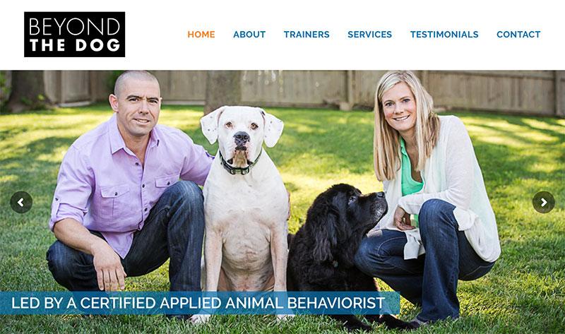 Website design for dog trainer